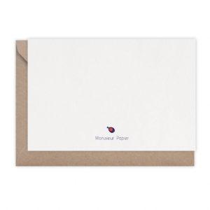 Carte Baleine rayée – Monsieur Papier
