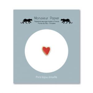 Pin's cœur – Monsieur Papier