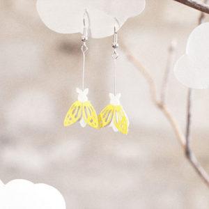 Boucles d'oreilles lépidoptères – L'oiseau Lÿre