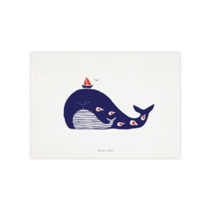 Poster Baleine rayée