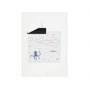 Poster cachalot – Monsieur Papier
