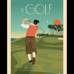 Affiche Marcel  Golf  ( 30×40 cm) – Marcel
