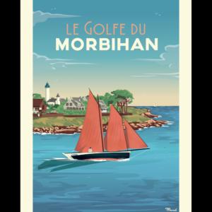 Affiche Marcel  Bretagne Golf du Morbihan ( 30×40 cm) – Marcel
