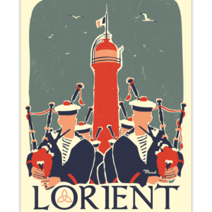 Affiche Marcel  Bretagne Lorient ( 30×40 cm) – Marcel