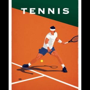 Affiche Marcel  Tennis  ( 30×40 cm) – Marcel