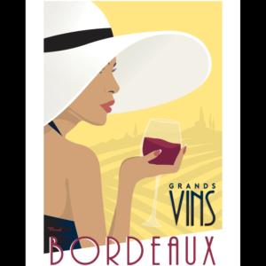 Affiche Marcel  Grands vins de Bordeaux  ( 30×40 cm) – Marcel (Copie)
