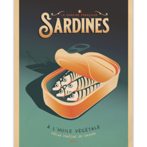 Affiche Marcel  les sardines ( 30×40 cm) – Marcel