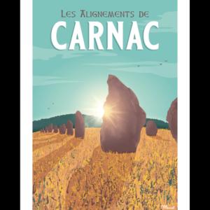 Affiche Marcel  Bretagne Carnac ( 30×40 cm) – Marcel