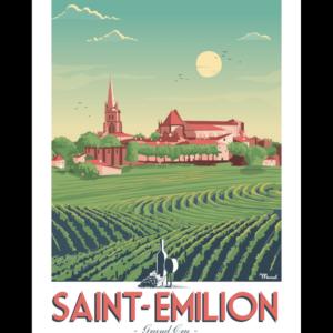 Affiche Marcel  Saint-Emilion   ( 30×40 cm) – Marcel