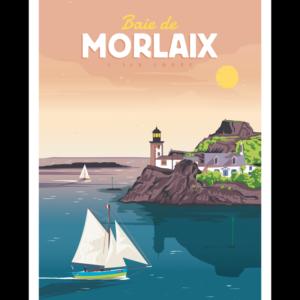 Affiche Marcel  Bretagne Baie de Morlaix  ( 30×40 cm) – Marcel