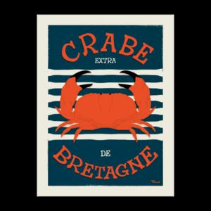 Affiche Crabe de Bretagne (50cm x 70cm) – Marcel