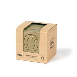 Cube de savon de Marseille tranché olive – Fer à Cheval
