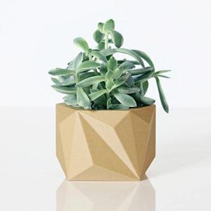 Cache-pot en bioplastic Kaki – Ikon