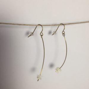 Boucles d'oreilles laiton et porcelaine – Carole Péron
