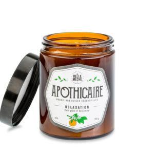 Bougies aux huiles essentielles – Relaxation Apothicaire – La Belle Mèche