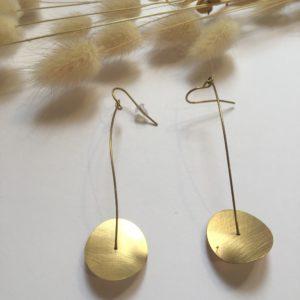 Boucles d'oreilles en laiton – Carole Péron