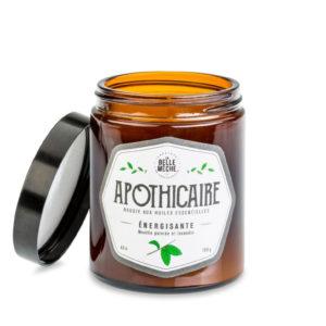 Bougies aux huiles essentielles – Énergisante  Apothicaire – La Belle Mèche