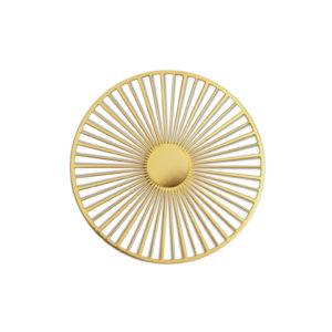 BROCHE MAGNÉTIQUE «SOLAR» DORÉE – DESIGN CONSTANCE GUISSET – Tout simplement