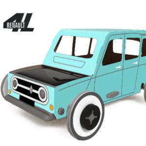 Autogamie Renault 4L Bleue