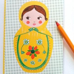 Carnet Matriochka jaune – Les cahiers de constance