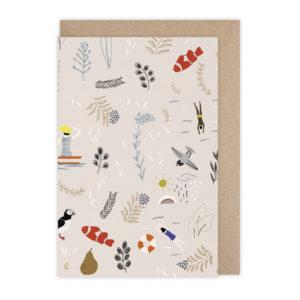Carte pattern beige  – Monsieur Papier