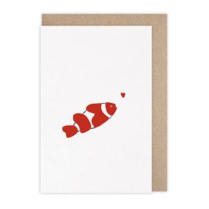 Carte poisson-clown – Monsieur Papier
