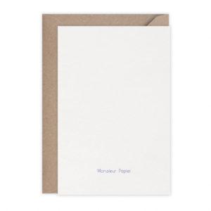 Carte  Langoustine – Monsieur Papier