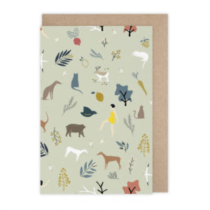 Carte pattern vert  – Monsieur Papier